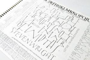 Continuous studies on handlettering & calligraphy  / Jurgen Vercaemst – recenzja książki